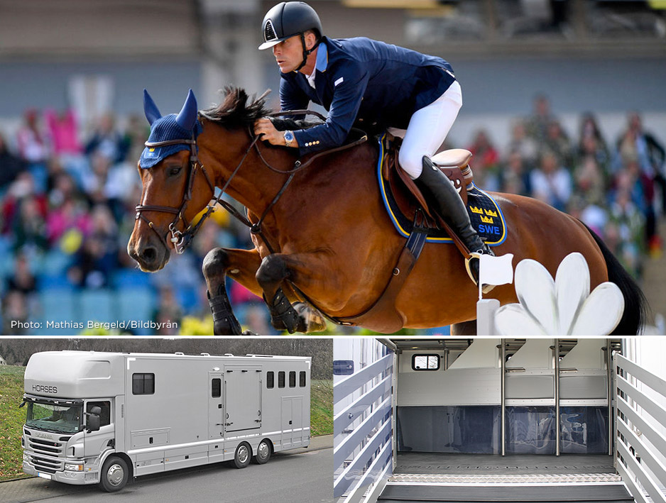Show jumping // Specially designed horsebox for Peder Fredricson